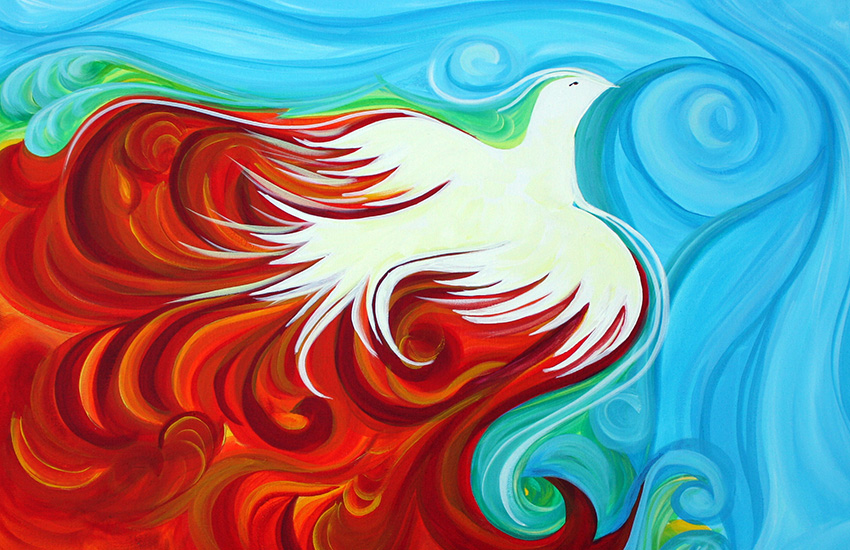 Peace Dove under Fire by Leah Bojey