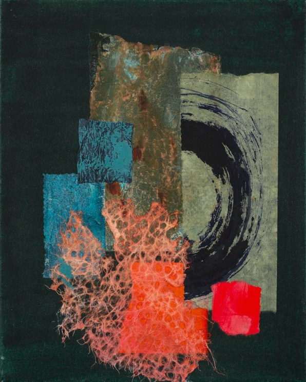 Abstract washi paper collage