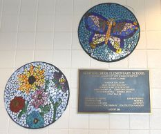 Norton Creek Mosaic.butterfly and flower