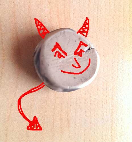 An eraser is a devil ?