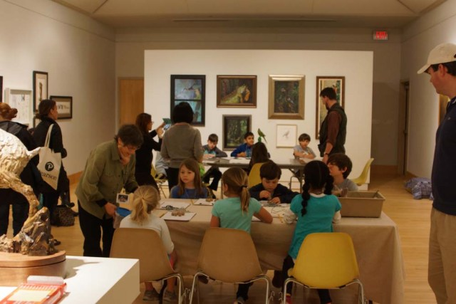 Sketching and sculpting in the gallery