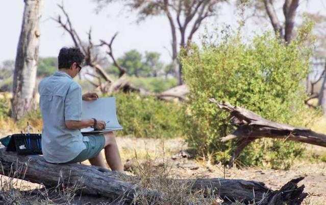 Alison Nicholls at work in Botswana.