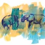 Wild Elephants sketch by Alison Nicholls