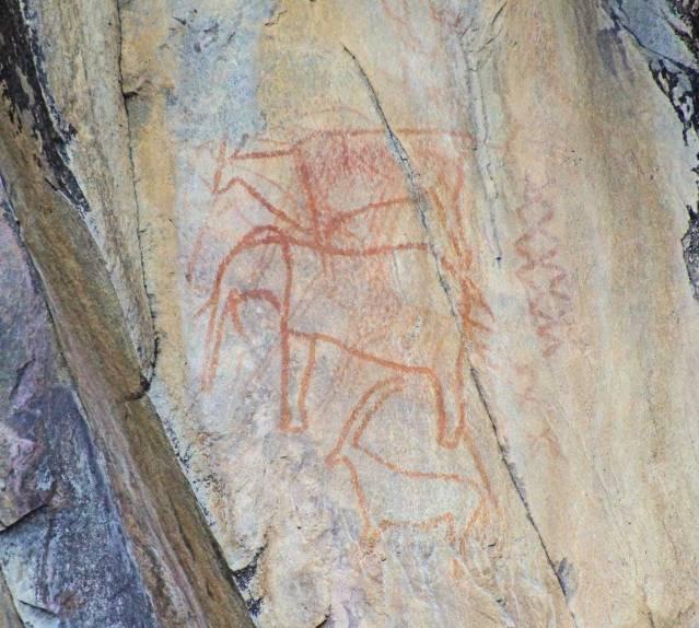 Rock art in Savute Botswana