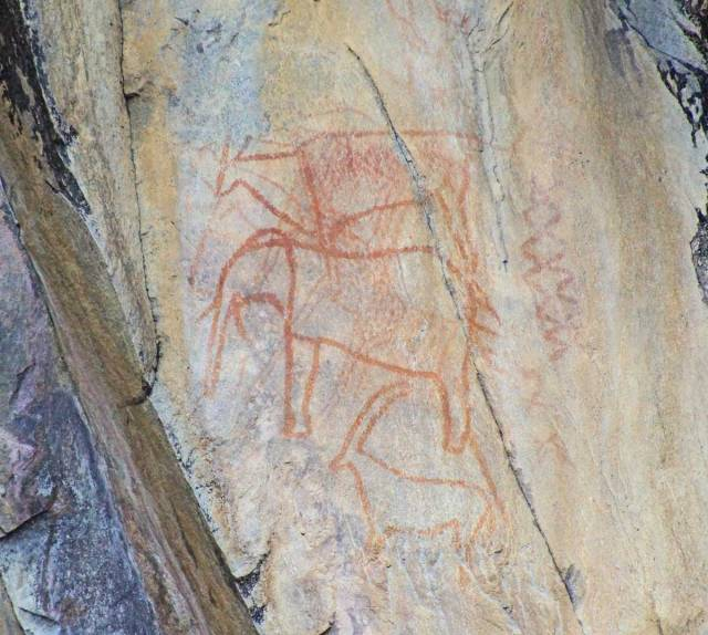 Rock art in Savute Botswana
