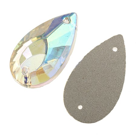 PEAR FACET CRYSTAL AB 20X11MM
