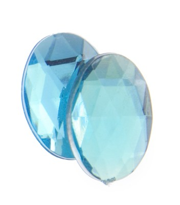 OVAL FACET AQUA 14 X 10 MM
