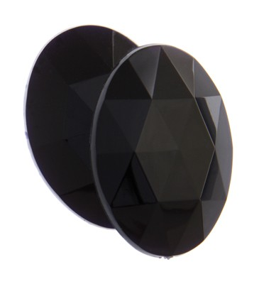 OVAL FACET BLACK 14X10MM