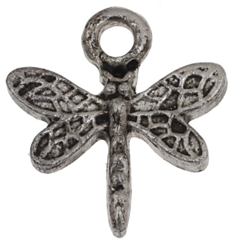 PENDENTIF LIBELLULLE ANT/SILVER