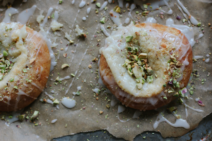 Brioche Danish with Goat Cheese and Pistachios