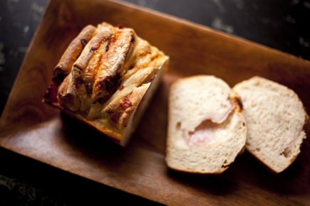 Sliced Ham and Cheese Pull-Apart Bread | Artisan Bread in Five Minutes a Day