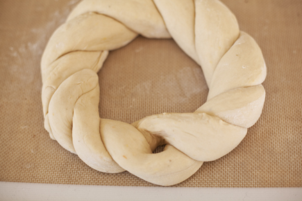 Forming Tsoureki Easter Bread Before Baking | Artisan Bread in Five Minutes a Day
