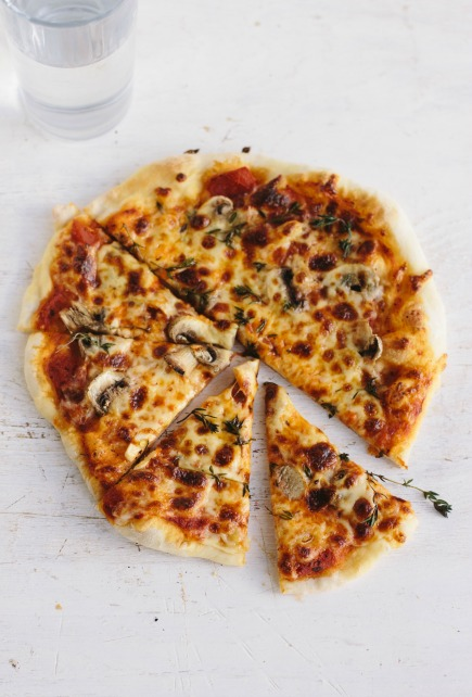 mushroom garlic thyme stovetop pizza | bread in 5
