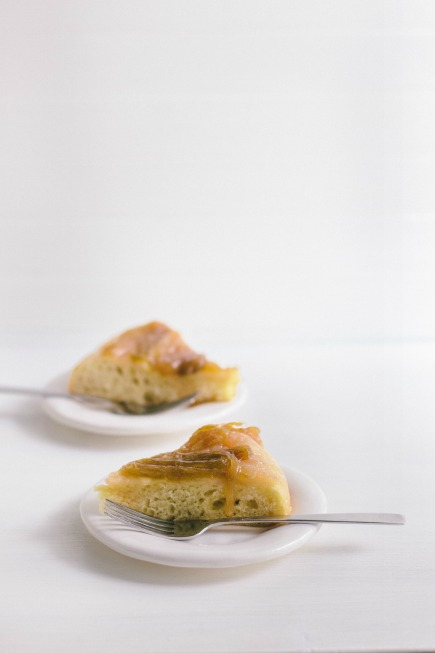 Rhubarb Upside-Down Brioche Cake | Bread in 5