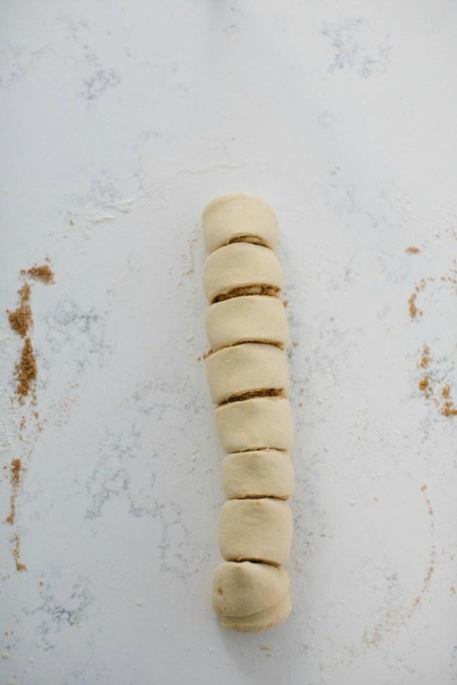 Just sliced cinnamon rolls