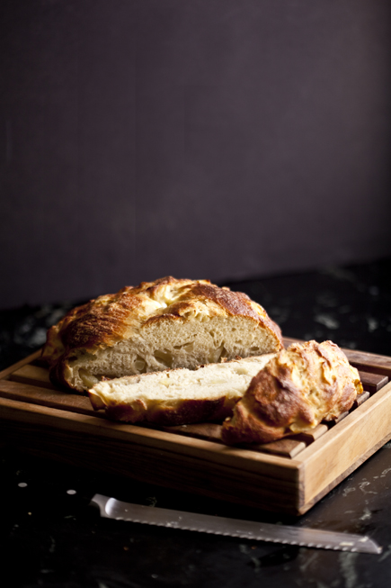 Apple and Honey Challah Sliced | Artisan Bread in Five Minutes a Day