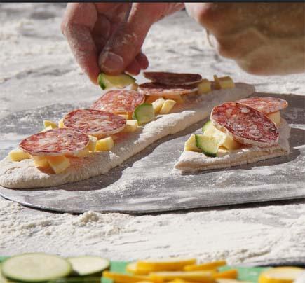 Crazy shape pizzas