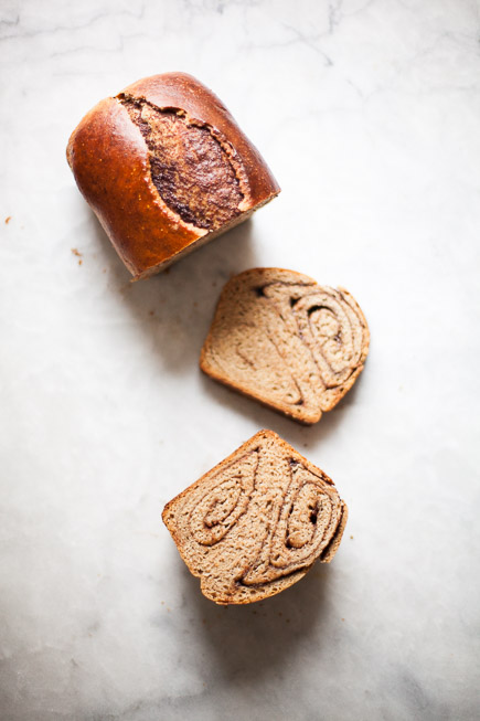 Slices of Nutella Swirl Bread - a Babka Cheat   Artisan Bread in Five Minutes a Day