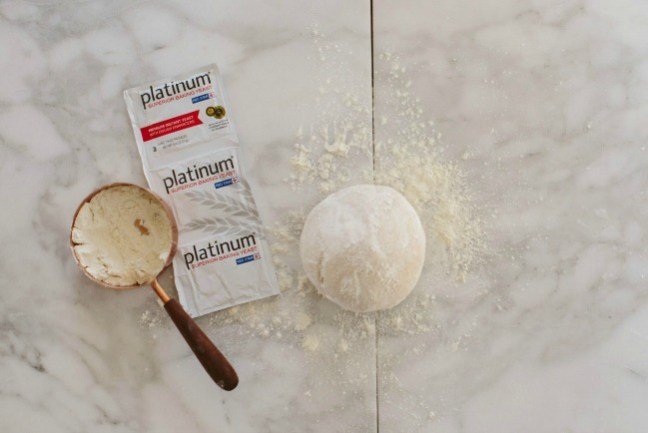 Dinner roll dough, flour and yeast   Artisan Bread in Five Minutes a Day