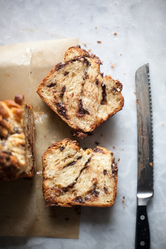 Chocolate Coconut Swirl Bread from Holiday and Celebration Bread in Five Minutes a Day