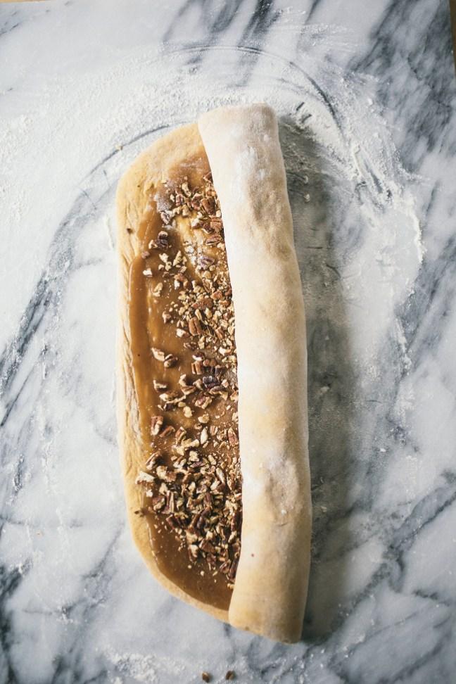 Rolling Pumpkin Nut Rolls | Artisan Bread in Five Minutes a Day