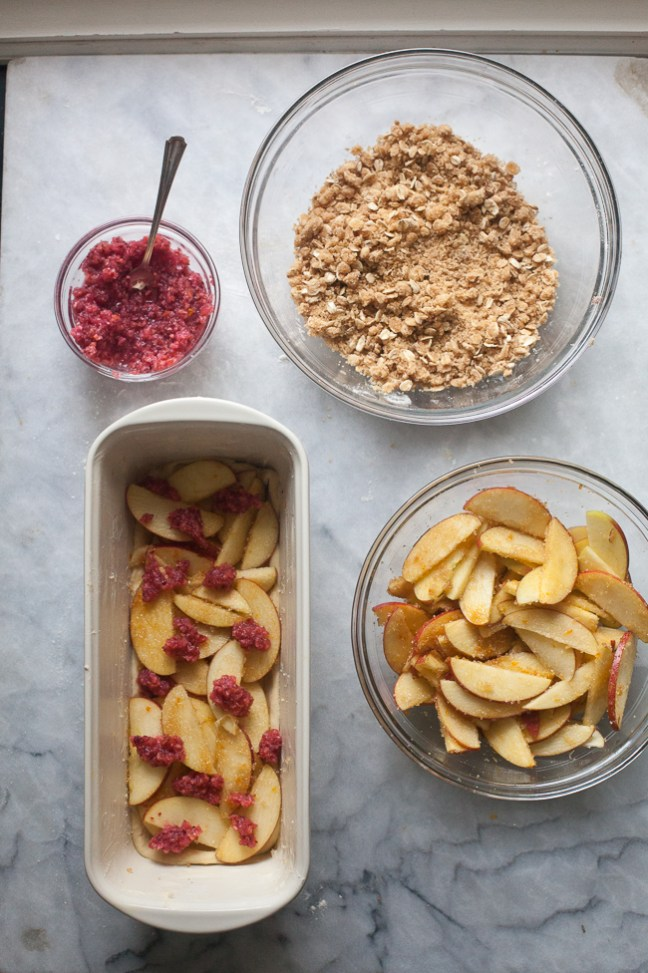 Assembling Cranberry-Apple Coffee Cake | Artisan Bread in Five Minutes a Day
