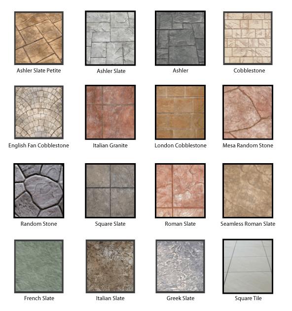 stamped concrete patterns artisan