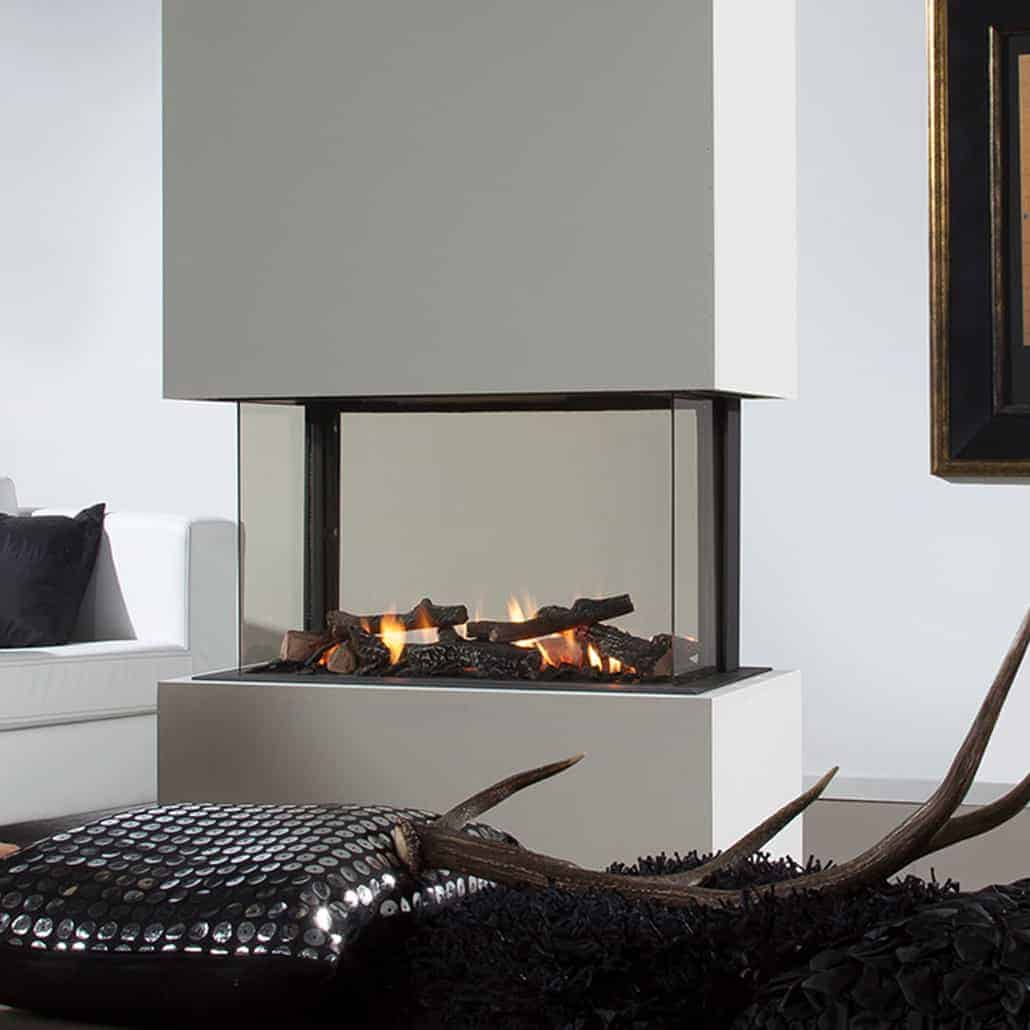 Artisan 360 Hole In The Wall Glass Fronted Gas Fire
