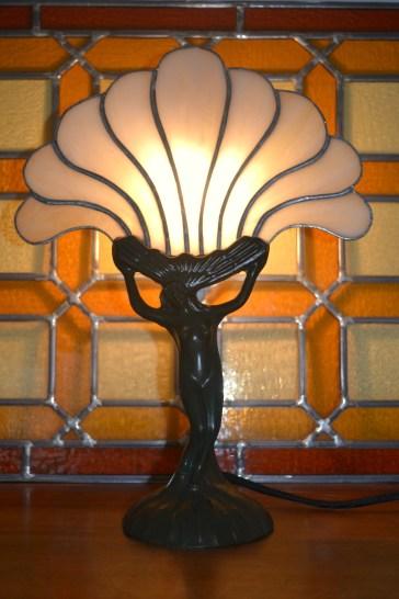 Lampe éventail art nouveau