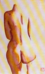 Nu de l'aquarelliste Patrick FOUILHOUX