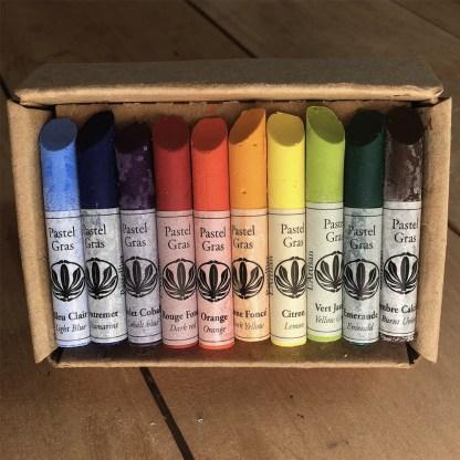 Coffret de 10 pastels gras Arc-en-ciel de l'Artisan Pastellier