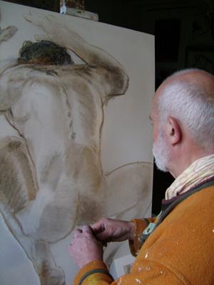Réflexion devant la toile. Reflection in front the canvas.