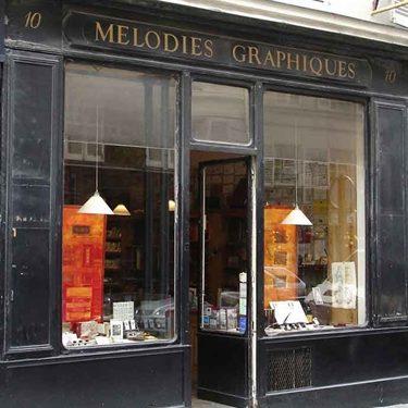 Devanture boutique Mélodies graphiques