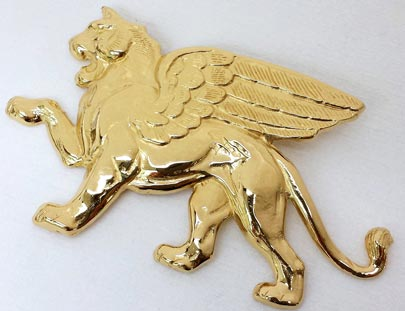 Gold-Plated Lion Broach