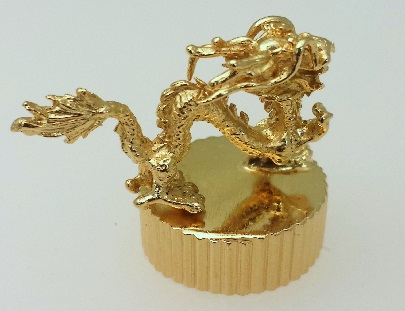 Shangai Dragon plated with 18kt Medici Gold.