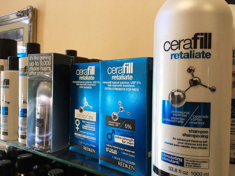 Redken cerafill retaliate, men's hair products