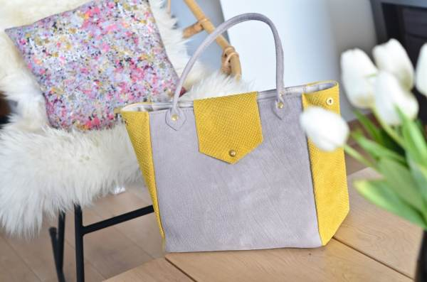 Sac jaune et gris atelier Amand