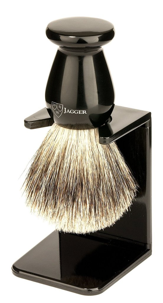 Edwin Jagger Best Badger Hair Shaving Brush with Drip Stand