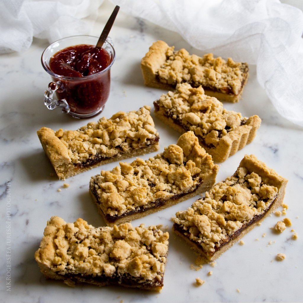 An old fashioned recipe for an old fashioned bar cookie, Jam Tarts by Monica Kass Randall