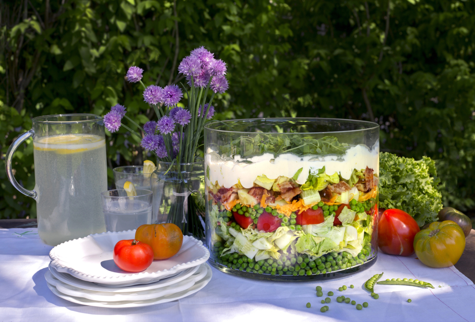 Classic Summer Salad - The Seven - Layer Salad