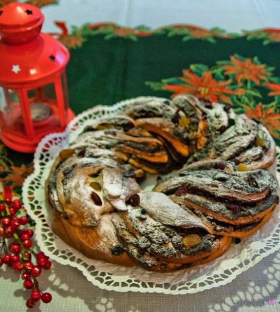 Коледен венец с портокалови корички