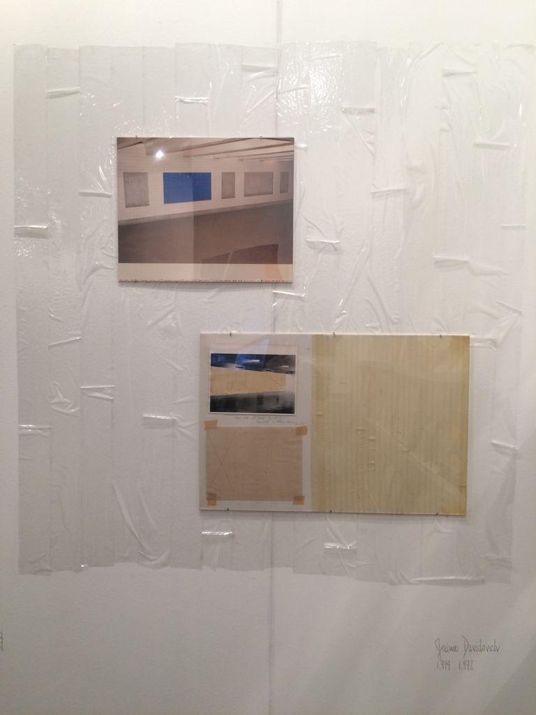 Obra de Jaime Davidovich (1972-1974) en el stand de Henrique Faría Nueva York/Buenos Aires, arteBA 2016. Foto: Alejandra Villasmil