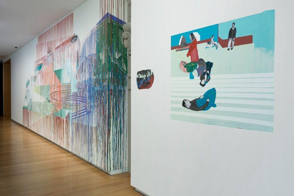 """Ignacio Gumucio, mural site-specific, 2016. Vista de la exposición """"Un espacio para soñar"""". Foto: ©AAG Toi o Tamaki 2016"""