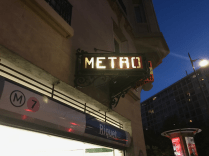 One of the classic Metro signs