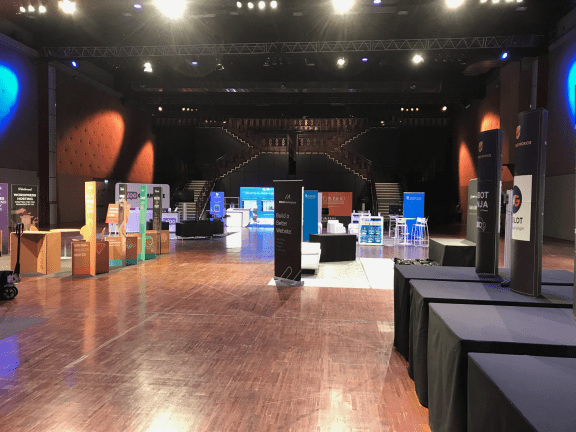 Just a portion of the massive sponsor hall