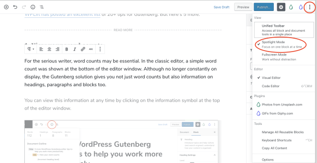 5 more WordPress Gutenberg editor tips to help you work more