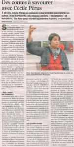 Cécile Pérus dans Nord Eclair le 5 février 2012
