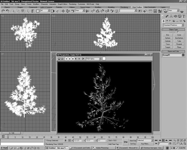 Software Downloads Pine Tree Design, (.3ds) 3D Studio