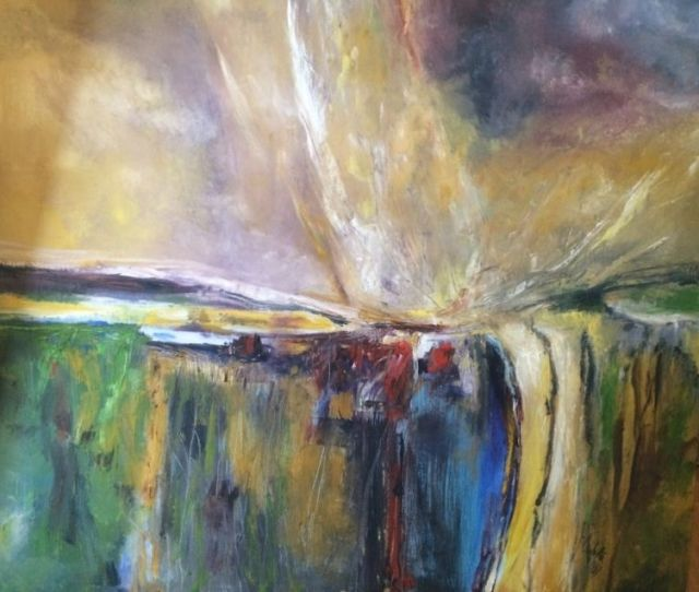 Cataclysm Of Nature Paintings Abstract Fantasy Nature Acrylic Canvas