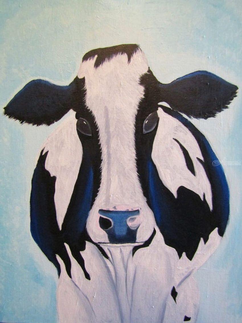 Hannah The Holstein Cow Cows Cow Art Bovine Barn